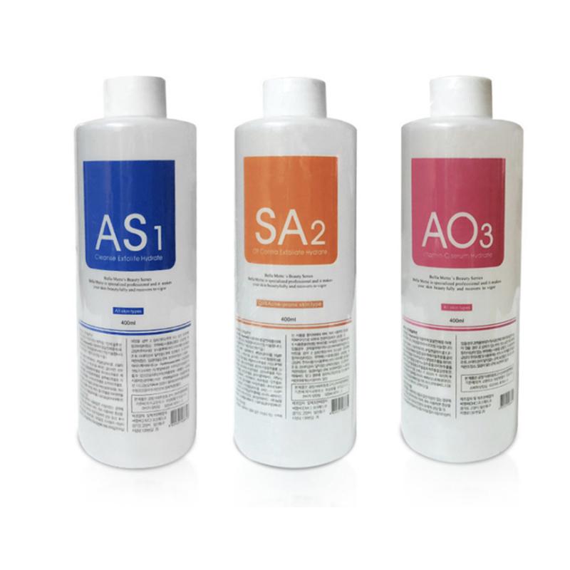 ABC bottle liquid used for hydra facial machine